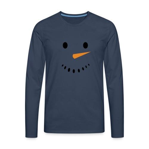 Bonhomme de neige Noël Hiver - T-shirt manches longues Premium Homme