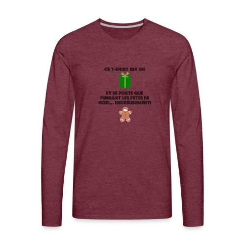 T-shirt cadeau de Noël - T-shirt manches longues Premium Homme