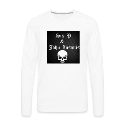 Six P & John Insanis SKULL Paita - Miesten premium pitkähihainen t-paita