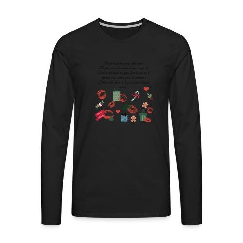 Bonne resolution Noël Nouvel An - T-shirt manches longues Premium Homme