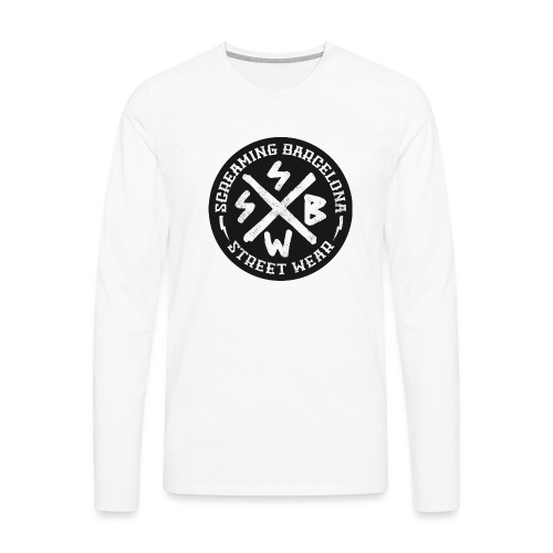 BASIC LOGO SWEATSHIRT BLACK - Camiseta de manga larga premium hombre