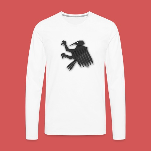 Nörthstat Group ™ Black Alaeagle - Men's Premium Longsleeve Shirt