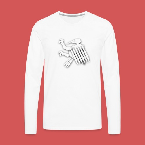 Nörthstat Group ™ White Alaeagle - Men's Premium Longsleeve Shirt