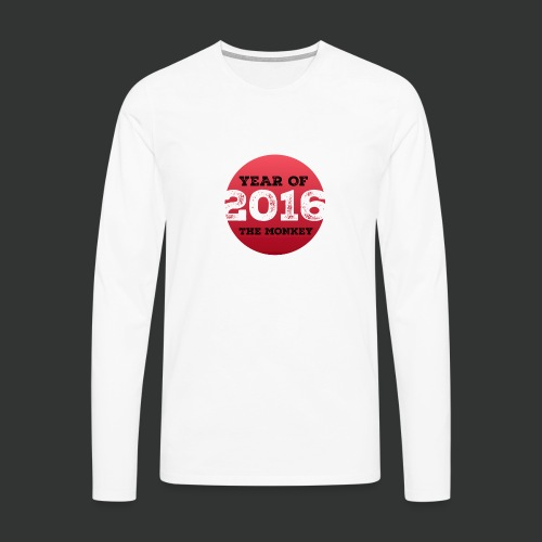 2016 year of the monkey - Men's Premium Longsleeve Shirt