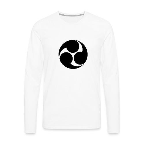 Kobayakawa Mon Japanese clan black - Men's Premium Longsleeve Shirt