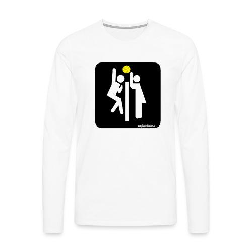 Toilet Volley - Maglietta Premium a manica lunga da uomo