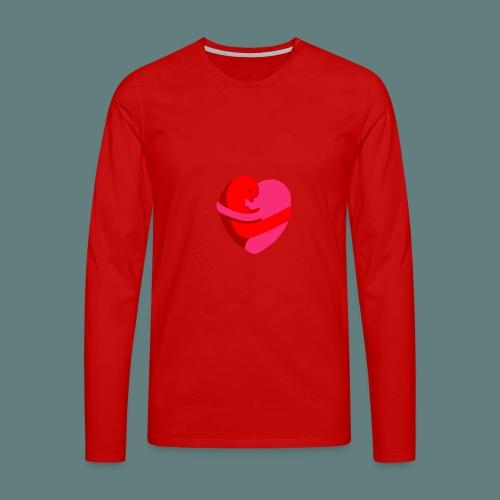 hearts hug - Maglietta Premium a manica lunga da uomo