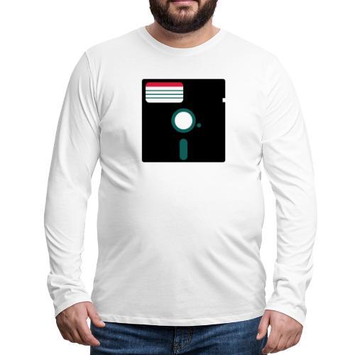 5 1/4 inch floppy disk - Miesten premium pitkähihainen t-paita