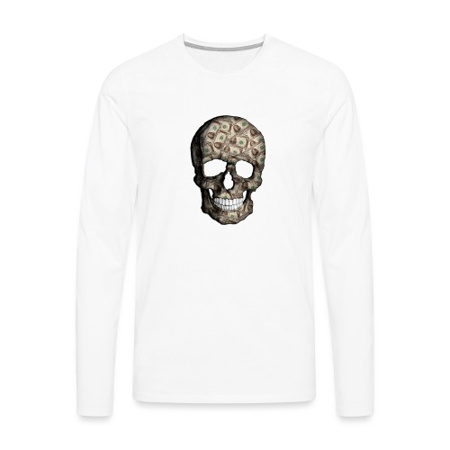 Skull Money - Camiseta de manga larga premium hombre