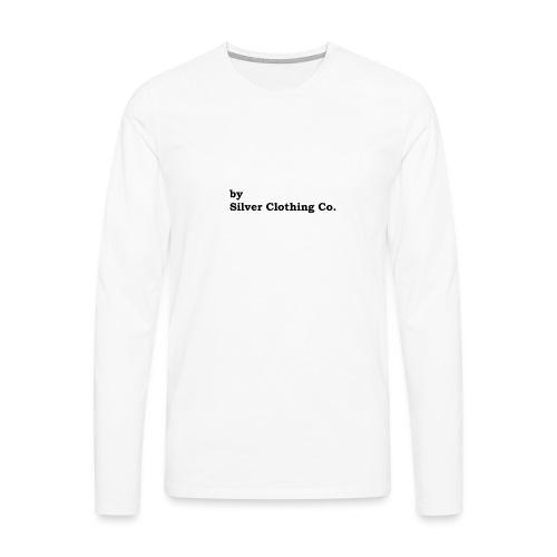 by Silver Clothing Co. - Herre premium T-shirt med lange ærmer