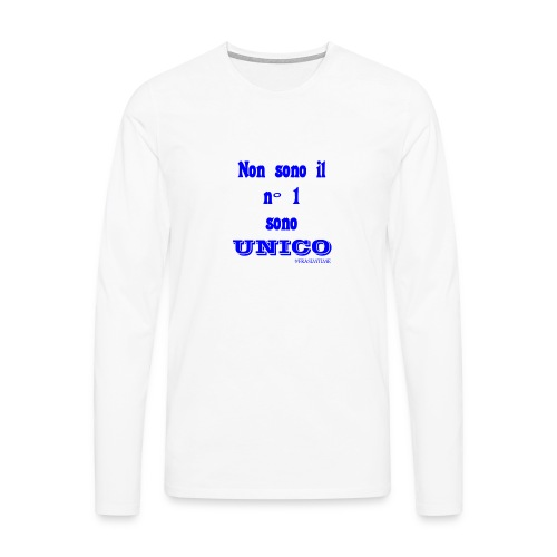 Unico #FRASIMTIME - Maglietta Premium a manica lunga da uomo