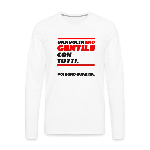 COVER UNA VOLTA ERO GENTILE CON TUTTI. - Maglietta Premium a manica lunga da uomo