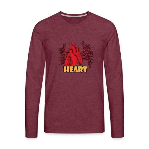 HEART - Maglietta Premium a manica lunga da uomo