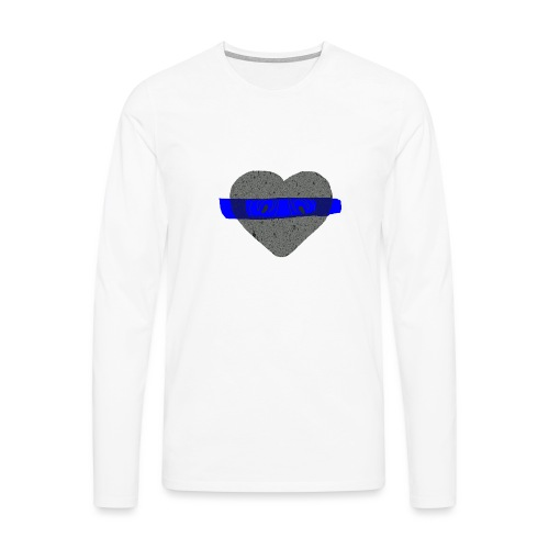 serduszko blu - Koszulka męska Premium z długim rękawem