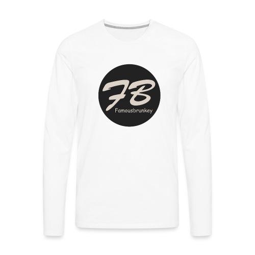 TSHIRT-FAMOUSBRUNKEY - Mannen Premium shirt met lange mouwen