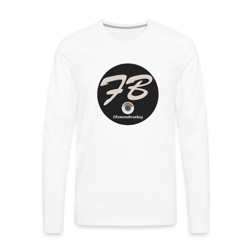 TSHIRT-INSTATUBER-METLOGO - Mannen Premium shirt met lange mouwen