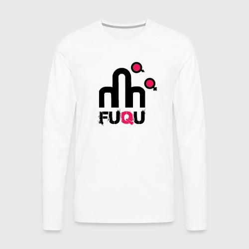 T-shirt FUQU logo colore nero - Maglietta Premium a manica lunga da uomo