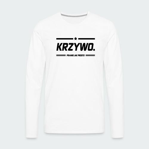 Damska Koszulka Premium KRZYWO - Koszulka męska Premium z długim rękawem