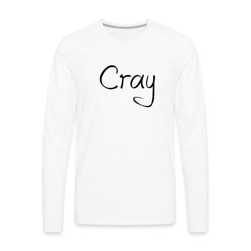 Cray Black Schrifft - Männer Premium Langarmshirt
