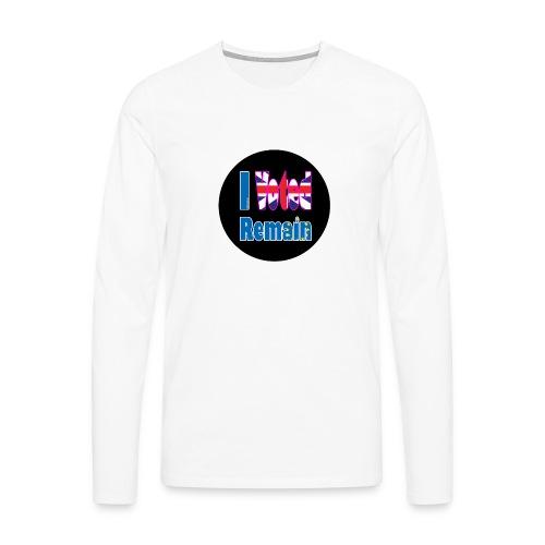 I Voted Remain badge EU Brexit referendum - Men's Premium Longsleeve Shirt