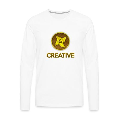 Creative logo shirt - Herre premium T-shirt med lange ærmer