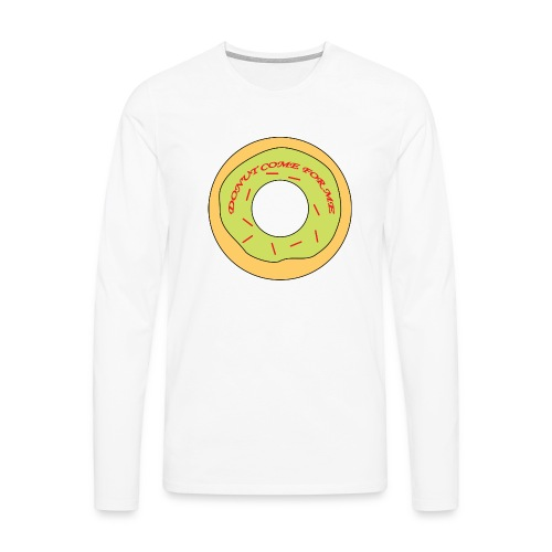 Donut Come For Me Red - Men's Premium Longsleeve Shirt