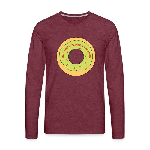 Donut Come For Me Red - Men's Premium Longsleeve Shirt