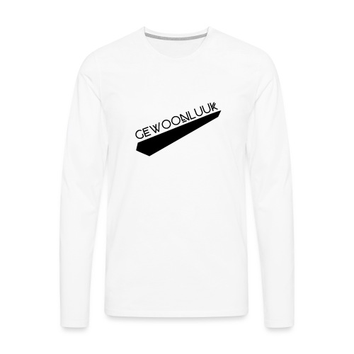 GewoonLuuk - Mannen Premium shirt met lange mouwen