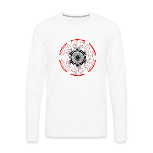 Red Poppy Seeds Mandala - Men's Premium Longsleeve Shirt