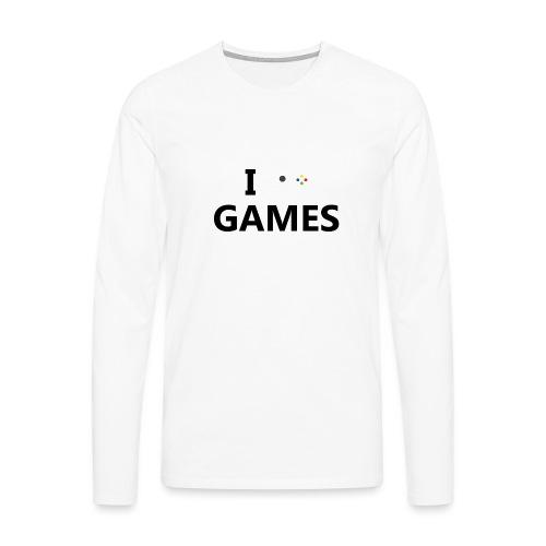I Love Games - Camiseta de manga larga premium hombre