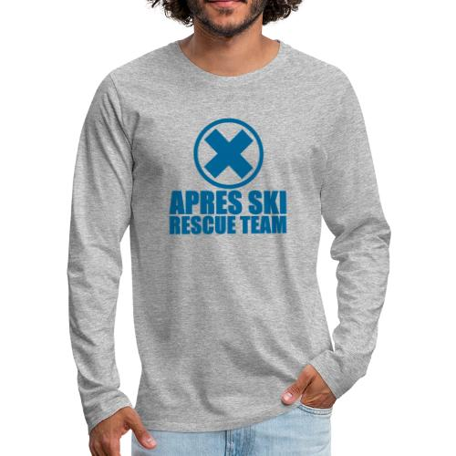 apres-ski rescue team - Mannen Premium shirt met lange mouwen