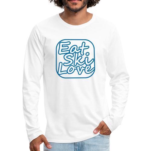 eat ski love - Mannen Premium shirt met lange mouwen
