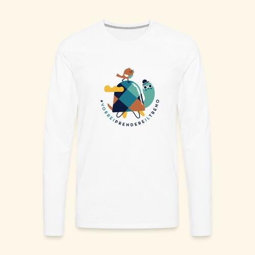 Tartaruga e uccellino - Maglietta Premium a manica lunga da uomo