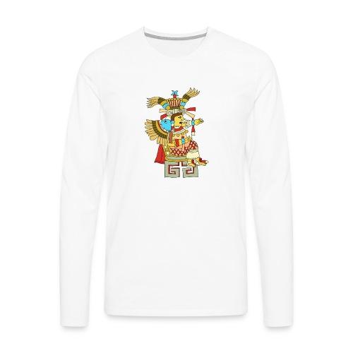 Xochiquetzal Aztec Aztekenmuster Hipster - Männer Premium Langarmshirt