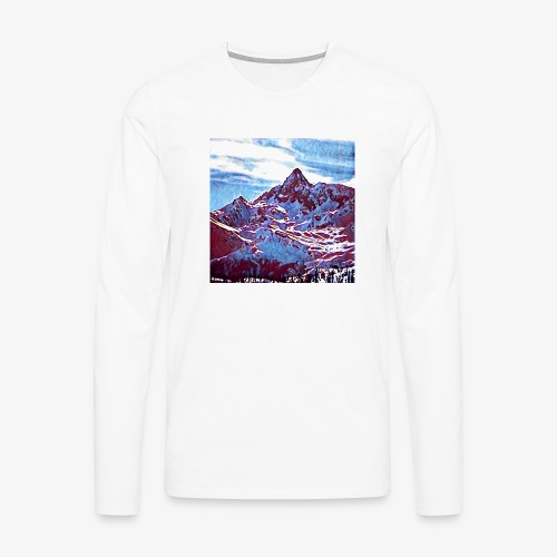 Red Mountain - Maglietta Premium a manica lunga da uomo