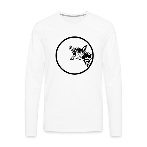 dog in a circle frame - T-shirt manches longues Premium Homme