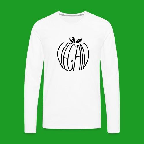 Vegan Apple - T-shirt manches longues Premium Homme