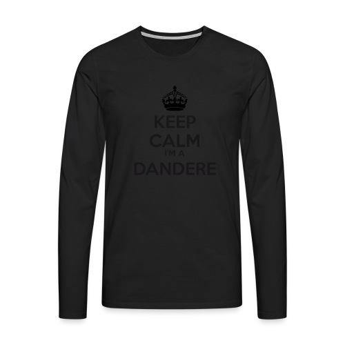 Dandere keep calm - Men's Premium Longsleeve Shirt