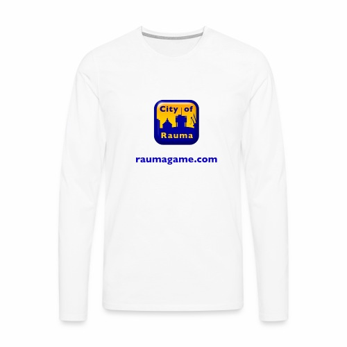 Raumagame logo - Miesten premium pitkähihainen t-paita
