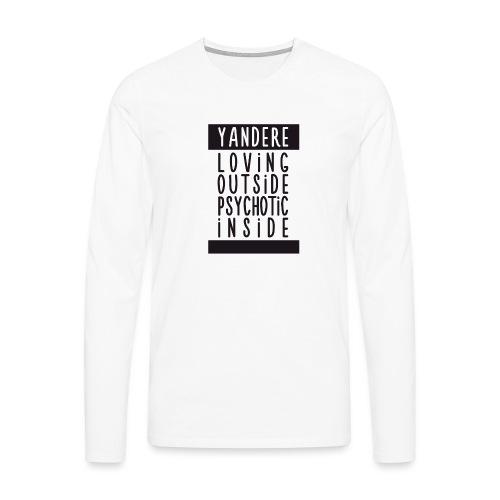 Yandere manga - Men's Premium Longsleeve Shirt