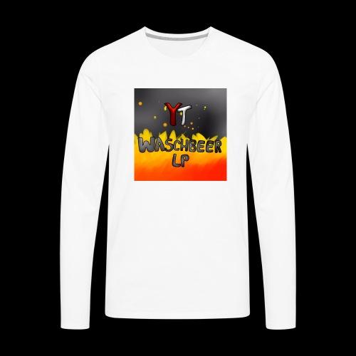 Waschbeer Design 2# Mit Flammen - Männer Premium Langarmshirt