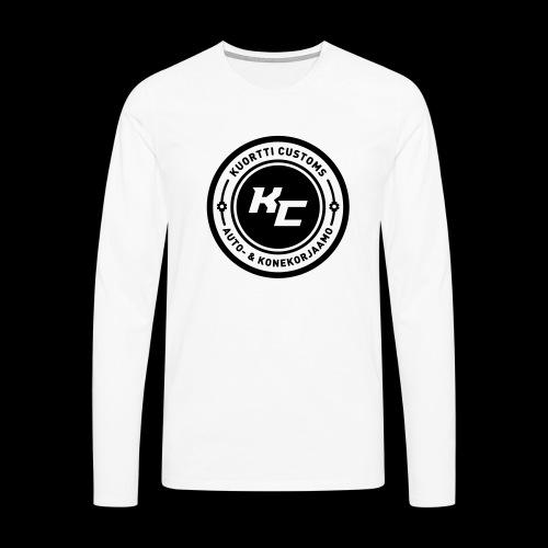 kc_tunnus_2vari - Miesten premium pitkähihainen t-paita