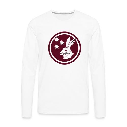 Reilinger Hase im Kreis - Männer Premium Langarmshirt