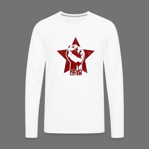 Revolution (oldstyle) - Miesten premium pitkähihainen t-paita