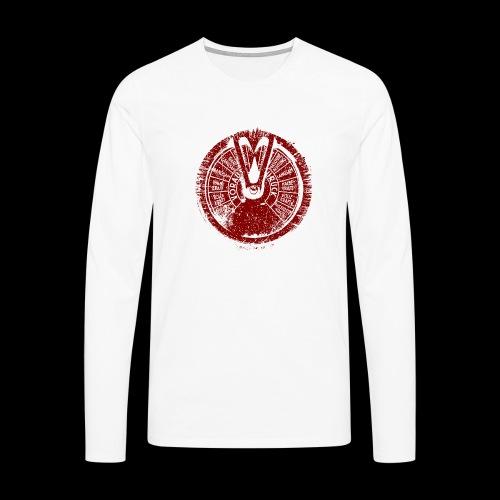 Maschinentelegraph (czerwona oldstyle) - Koszulka męska Premium z długim rękawem
