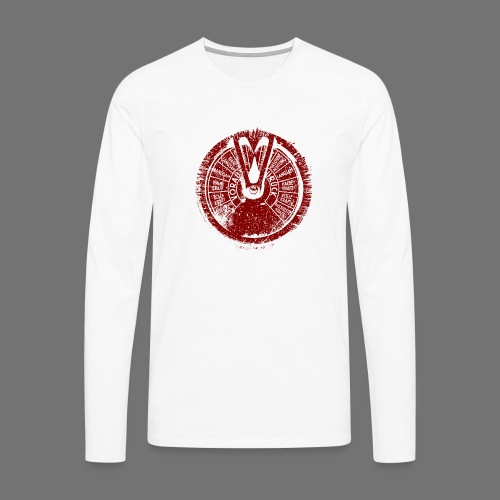 Maschinentelegraph (rød oldstyle) - Herre premium T-shirt med lange ærmer