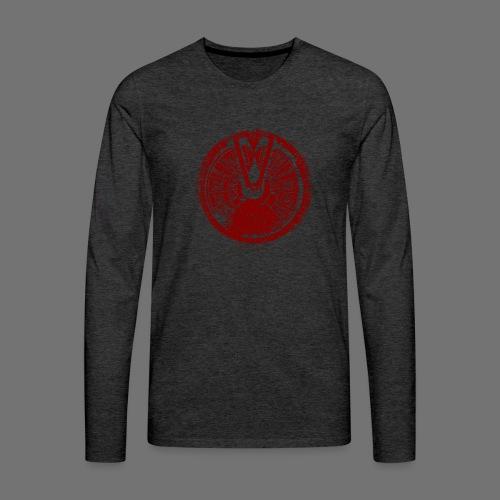 Maschinentelegraph (punainen oldstyle) - Miesten premium pitkähihainen t-paita
