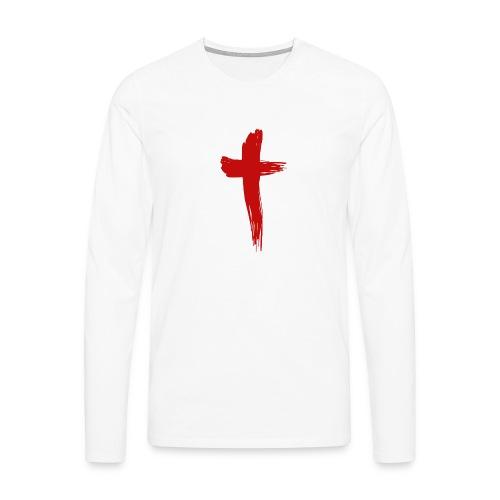 Kreuz rot - Männer Premium Langarmshirt