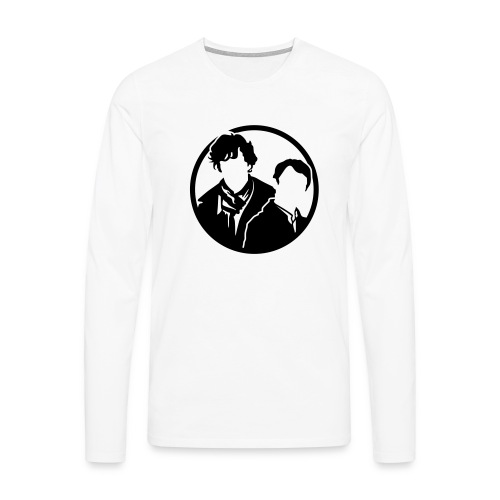 Sherlock Holmes und John Watson - Männer Premium Langarmshirt