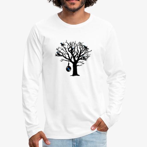 Musical Birds in Tree 2 blau Hangman Vinyl - Männer Premium Langarmshirt